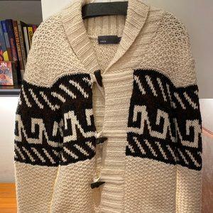 Vince Shawl Collar Wool Blend Cardigan